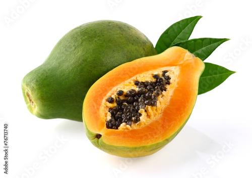 Zdjęcia na płótnie, fototapety, obrazy : Papaya with leaves