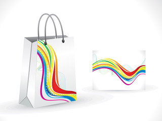 abstract shopping bag template