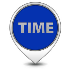 Time pointer icon on white background
