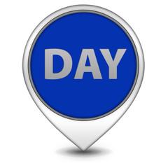 Day pointer icon on white background