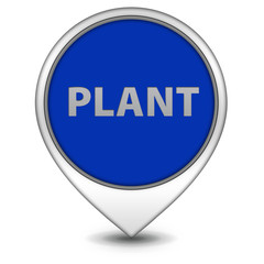 Plant pointer icon on white background