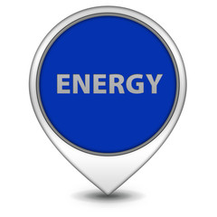 Energy pointer icon on white background