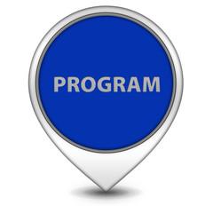 Program pointer icon on white background