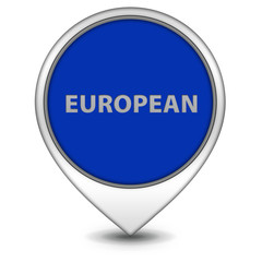 European pointer icon on white background