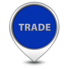 Trade pointer icon on white background