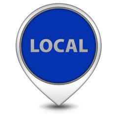 Local pointer icon on white background