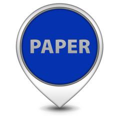 Paper pointer icon on white background