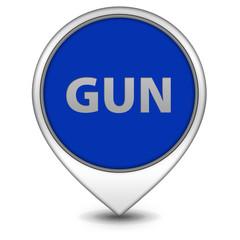 Gun pointer icon on white background