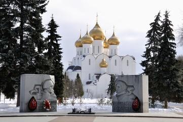 The Uspensky Cathedral in Yaroslavl in Winter