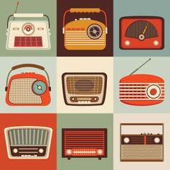 Vintage radio set