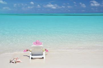 Beach scene. Great Exuma, Bahamas