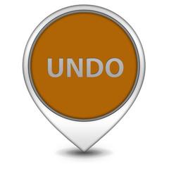 undo pointer icon on white background