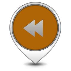 scroll pointer icon on white background