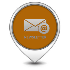 Newsletter pointer icon on white background