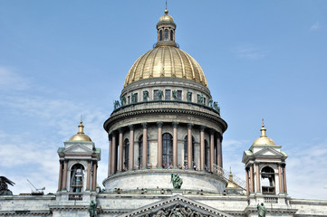 Saint Isaac's Cathedral in St. Petersburg in summer