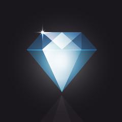 Diamond Gloss Vector - Shiny and Glowing Object