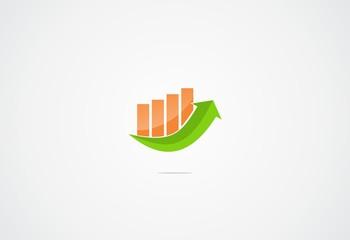 arrow finance business icon logo