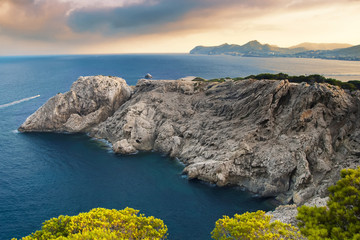 Beautiful rocky coast in Mallorca