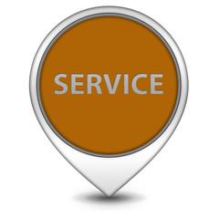 Service pointer icon on white background