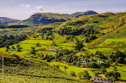 Papiers peints Riviere Glenridding seen from slopes of Sheffield Pike
