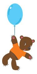 Little bear with balloon