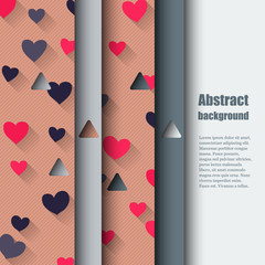 Brochure template with love background.
