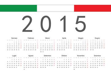 Italian 2015 year vector calendar