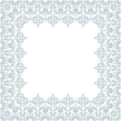 Floral Vector Frame. Abstract Ornament