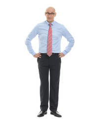 Full length portrait of confident businessman