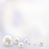 Beautiful realistic pearl set illustration vector