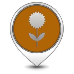Flower pointer icon on white background