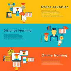 Online Education Banners Set