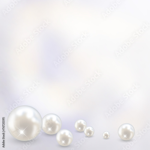 Beautiful realistic pearl set illustration vector - 76720395