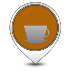 Coffee pointer icon on white background