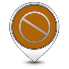 Ban pointer icon on white background