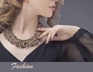 Beautiful young woman. Jewelry. Fashion photo