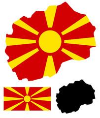 Macedonia map and flag vector