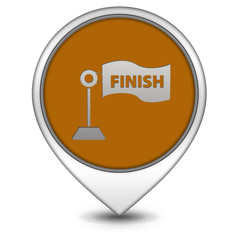 Finish pointer icon on white background
