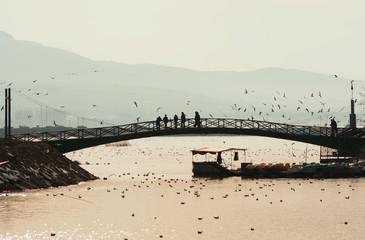 köprü ve insanlar