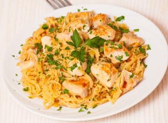 chicken breast with pasta