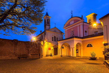 Town of Barolo, Italy.