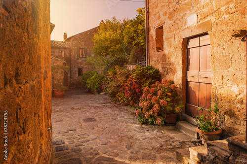 Small alley in the Tuscan village
