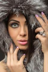 girl in fox fur hat
