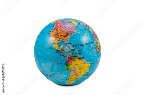 Leinwanddruck Bild Globes with America