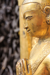 Golden statue at the Swayambhunath site in Kathmandu, Nepal
