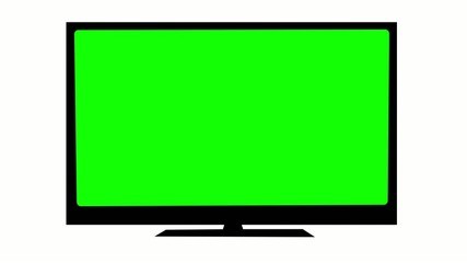 TV with Green screen.