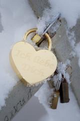 "Love padlock saying ""Ich Liebe Dich"" - german"
