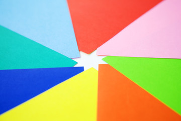 various colors of paper crafts