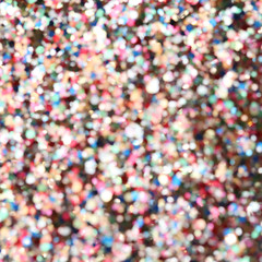 High resolution defocused view of colorful glitters background