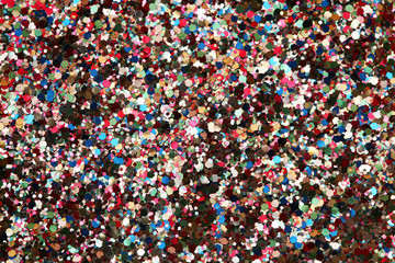 High resolution macro view of glitter background